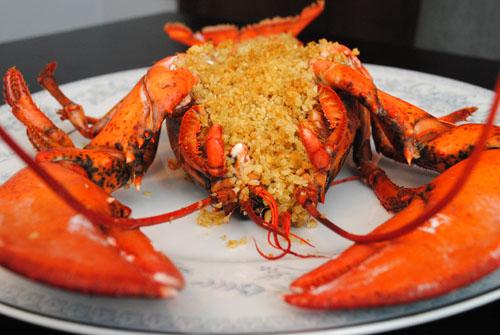 Baked Stuffed Lobster Recipe — Dishmaps